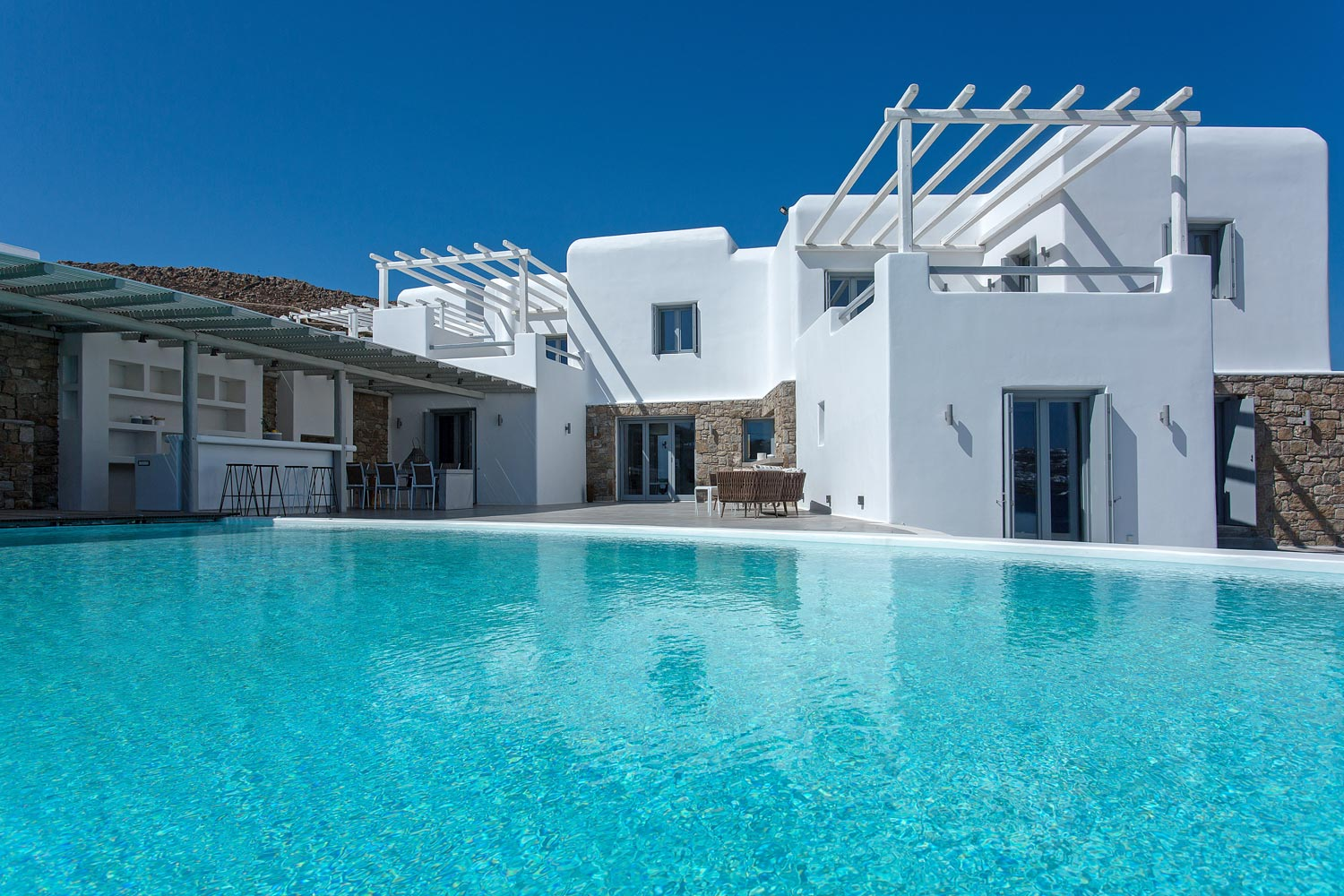 Villa with Panoramic View of Mykonos