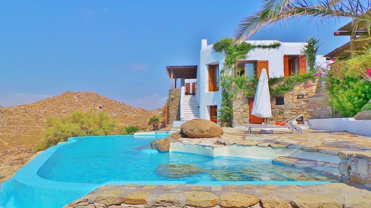 Villa's Facade and Swimming Pool