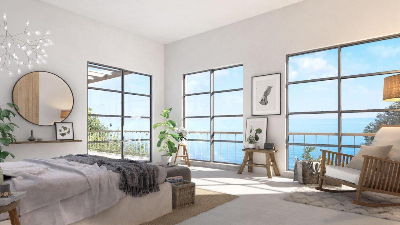 Bedroom with deluxe design