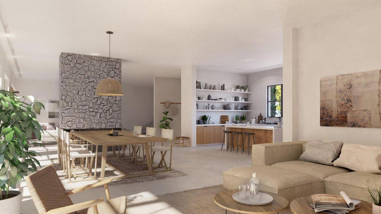 Open view to Kitchen, Common Living Area and Dining